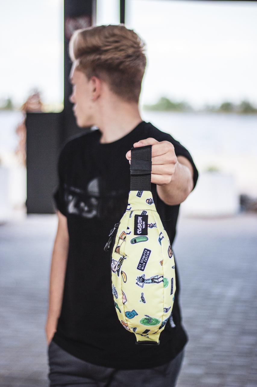 Бананка Custom Wear Uno Rick and Morty Yellow Мультиколор Custom Wear