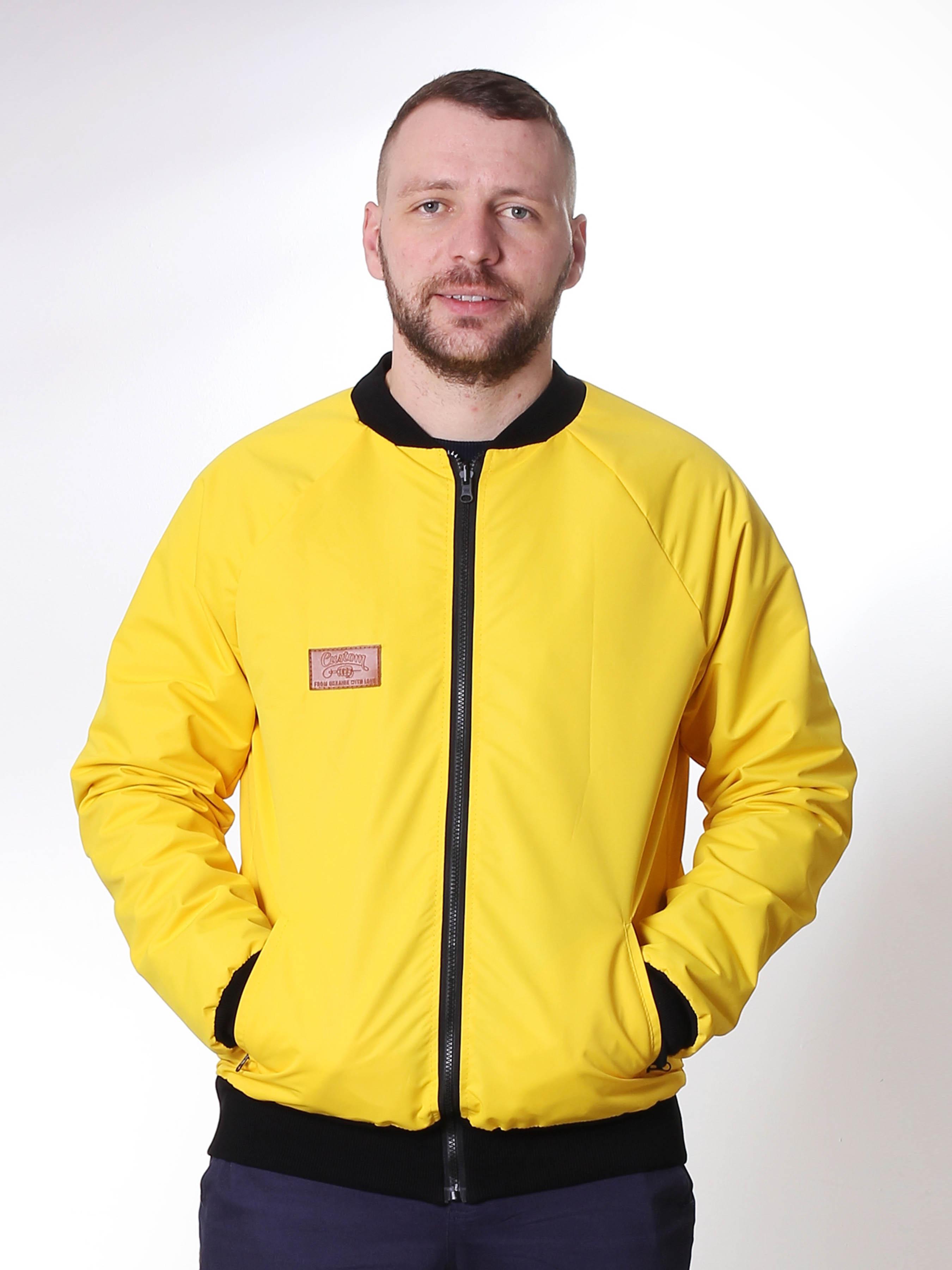 Куртка-бомбер Custom Wear двухсторонний Black/Yellow утеп. Custom Wear