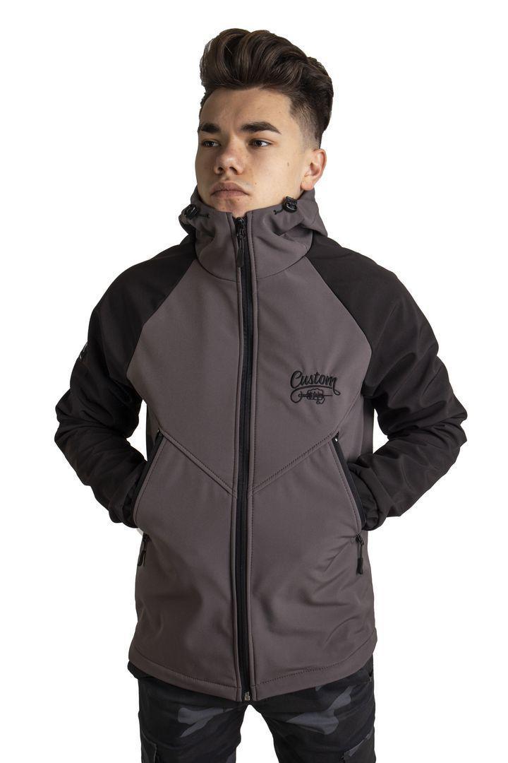 Куртка Custom Wear Soft Shell Black/Grey Серый Черный Custom Wear