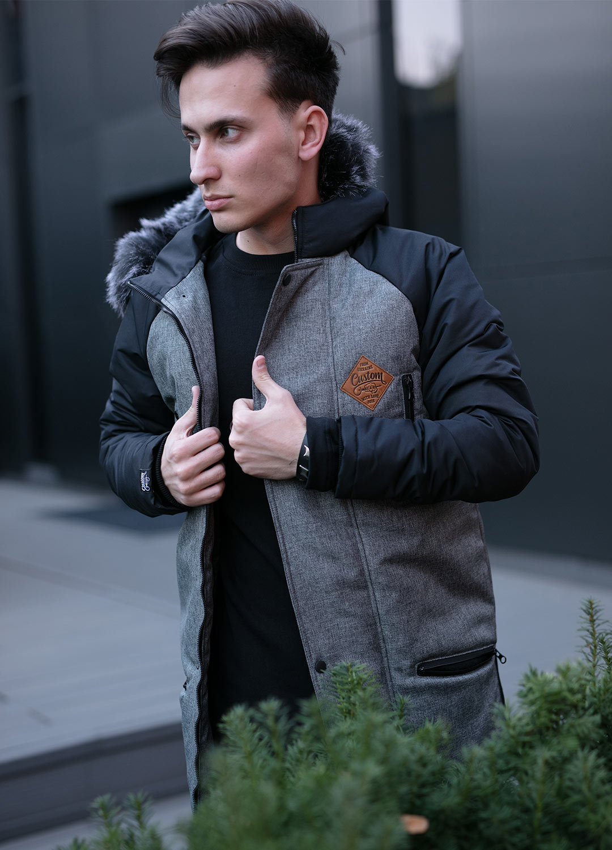 Парка Custom Wear Long, Grey/Black XL Custom Wear