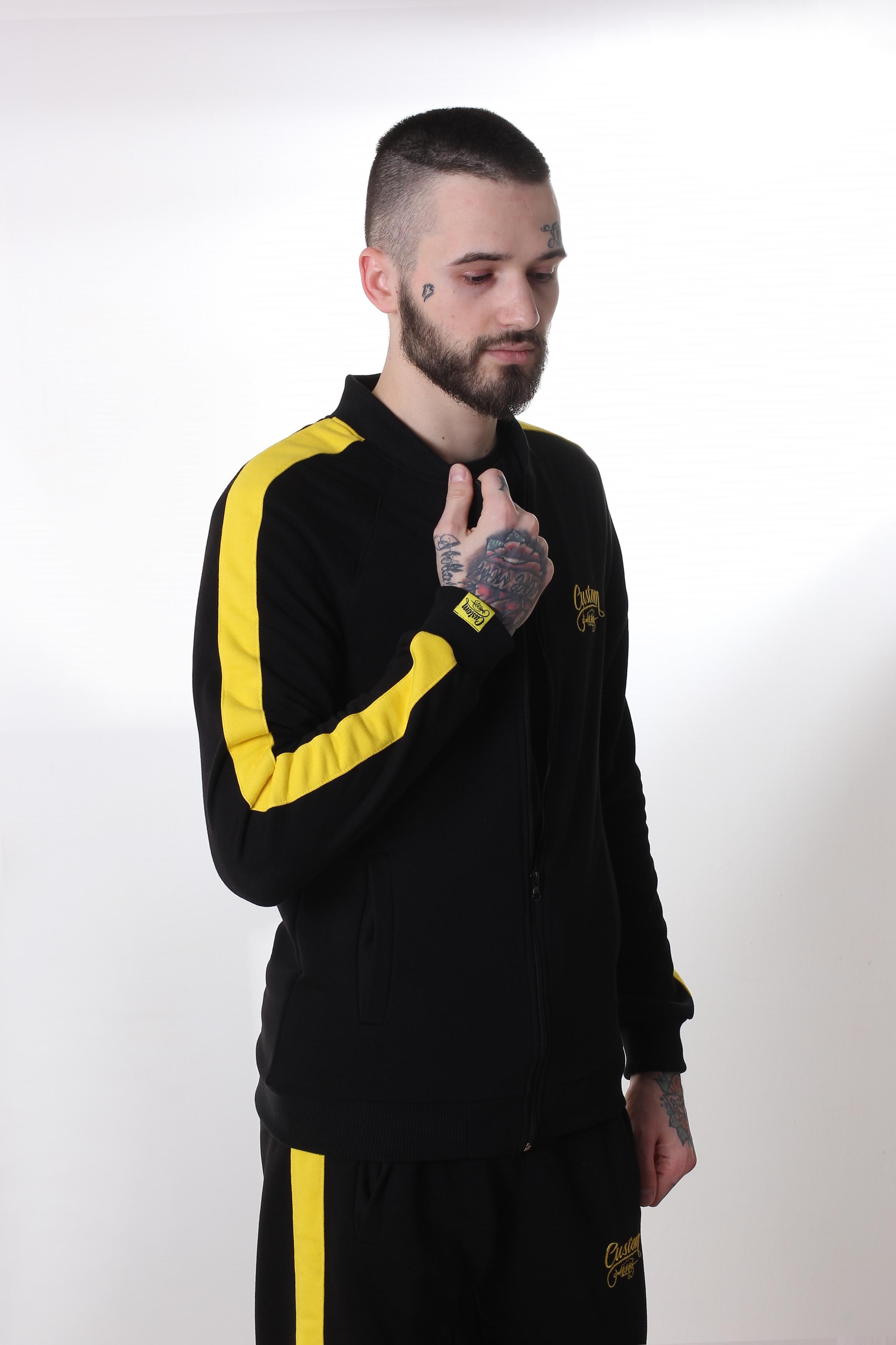 Олимпийка Custom Wear с лампасами Black/Yellow Custom Wear